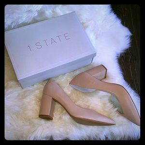 1. State Sisteen D'orsay Pump Nude size 8.5